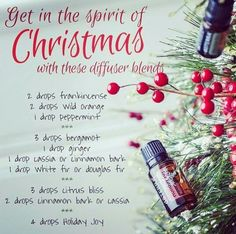 Get in the spirit of Christmas with these diffuser blends