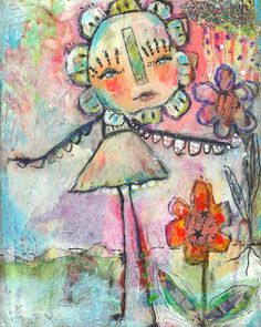 Whimsical Owls and Other Mixed Media Art From the Heart by Juliette Crane: a NEW Mixed Media Painting Mixed Media Painting, Mixed Media Art, Mix Media, Whimsical Owl, Atelier D Art, Creative Art, Creative Ideas, Art Journal Inspiration, Medium Art