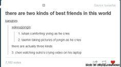 Hahahaha types of friendships: EXO version