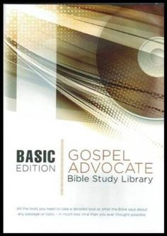 Gospel Advocate Bible Study Library - Updated Version [CD-Rom] Software by Gospel Advocate