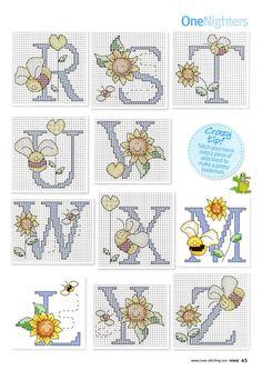 Buzzy bee alphabet chart 3