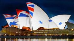 Sydney Harbour's Opera House in naval flag Naval Flags, Australian Flags, First Nations, Lighthouse, New Zealand, Sydney, Old Things, Opera House, Image
