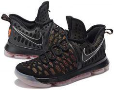 Nike Zoom KD9 Mens Basketball Shoes - Black/Orange1