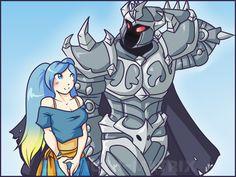 Summer Sona and Mordekaiser by Clodiuth-Matrix.deviantart.com on @DeviantArt League of Legends
