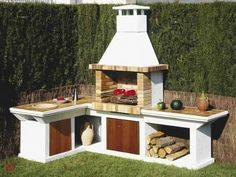 Amazing Outdoor Patio Barbecue Grill Ideas: Do you think that having a piece of BBQ stand in your house garden will bring a source of thrilling entertainment in the nightlife gatherings. Outdoor Oven, Outdoor Cooking, Masonry Bbq, Barbacoa Jardin, Parrilla Exterior, Bbq Stand, Brick Bbq, Bbq Area, Outdoor Kitchen Design