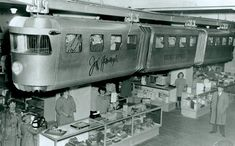 Happy memories of the sky train in the toy department of  the John Wanamaker store.