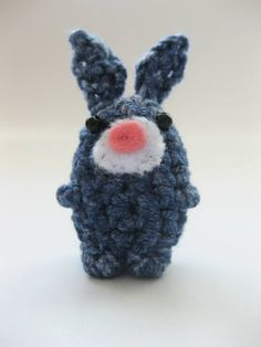 Beeble Bunny Crochet bunny with beads for eyes and felt muzzle 3-6cm