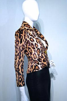 Vintage 1970s LEOPARD Smooth Faux Fur Glam by VicAndBertieVintage