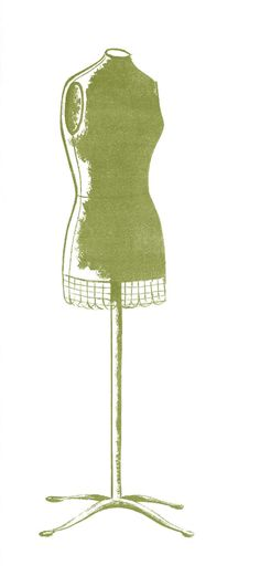 Retro Clip Art - Cute Dress Forms - The Graphics Fairy