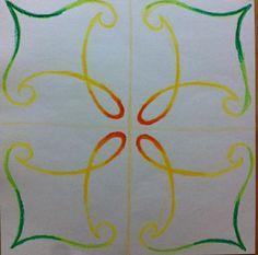 border for main lesson book Chalkboard Drawings, Chalkboard Art, Fourth Grade, Third Grade, Grade 3, 6th Form, Form Drawing, Board Decoration, Rangoli Designs