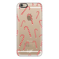 iPhone 6 Plus/6/5/5s/5c Case - CHRISTMAS CANDYCANES by Harvest Paper... ($40) ❤ liked on Polyvore featuring accessories, tech accessories, phone cases, iphone case, iphone cover case and apple iphone cases