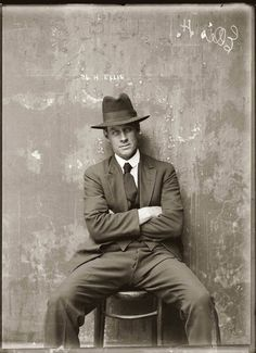 Mugshot from the 1920s gangster squad - still, can't help thinking he's a bit of a dandy...