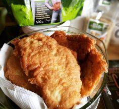 Szénhidrátcsökkentett rántott hús, vagy bundás hús Szafi Reform lángos lisztkeverékkel vagy Szafi Reform kenyér és péksütemény lisztkeverékkel (gluténmentes, tejmentes, szójamentes) – Éhezésmentes karcsúság Szafival Cornbread, Cheese, Ethnic Recipes, Food, Millet Bread, Eten, Meals, Corn Bread, Diet