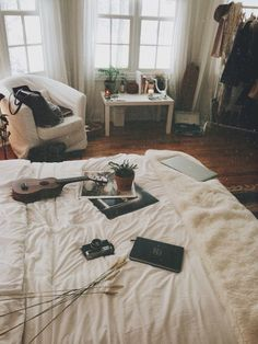 Image via We Heart It #bed #bedroom #bedroomdecoration #camera #clothes #cool…