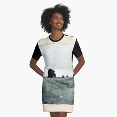 """Avebury - The Field"" Graphic T-Shirt Dress by OrionRose   Redbubble   #art #collage #mixedmedia #blackandwhite #black #and #white #beige #aesthetic #artist #artwork #arte #england #avebury #photography #pale #adventure #travel #peach #boho #indie #hipster #explore #vintage #women #fashion #womenswear #womensfashion"
