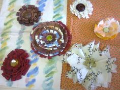 Craft group made these lovely brooches.