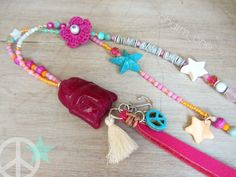 Ketten lang - Kette ☮ BUDDHA pink gypsy Look ☮ Peace Hippie - ein Designerstück von charm_one bei DaWanda