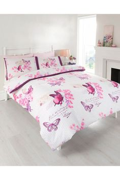 Parisienne Butterflies Duvet Set - King Size.  For more gorgeous things, visit my Facebook shop http://on.fb.me/1LdAtgt