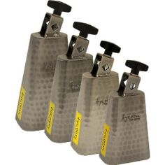 """Tycoon Percussion 6 Inch Hand Hammered Cowbell by Tycoon Percussion. $50.63. Tycoon Percussion TWH-60 6"""" Hand Hammered Cowbell is constructed of premium quality steel with a black powder coated finish. Each bell comes standard with a mounting bracket that mounts easily on any cowbell holder. Tycoon Black Powder Coated Cowbells are available in four sizes; 5"""" 5.5"""" 6"""" and 6.5""""."""