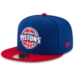 sports shoes 52110 6b52c Men s Detroit Pistons New Era Blue Red Official Team Color 2Tone 59FIFTY  Fitted Hat