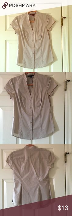 Armani Exchange Top Armani Exchange, size medium, tan/beige color, cap sleeves, 60% cotton 35% nylon, 5% spandex. Only worn a few times & is in excellent condition. A/X Armani Exchange Tops