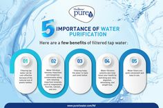 Water purification systems help boost your health by hydrating your skin, digestion, detoxifying and weight loss. Ro Water Purifier, Water Purification, Importance Of Water, Water Filter, Infographics, Filters, Weight Loss, Personal Care, Health