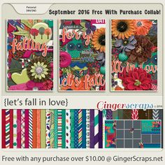 Free-With-Purchase at GingerScraps for the month of September! Let's Fall In Love is a beautiful collaboration by our GingerScraps Designers that will definitely help you create special memories from your romantic moments. The collab will be automatically added to your cart when you spend $10.00 or more in the GingerScraps shop. Let's Fall In Love; http://store.gingerscraps.net/GingerBread-Ladies-Collab-Lets-Fall-In-Love.html. 09/23/2016
