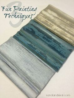 Amazing & Beautiful !! DIY:: 3 NEW Painting Techniques for Furniture ! (Excellent Tutorials For Each) Anyone who paints or crafts  will  LOVE this post ! by Kim   Sandandsisal.com