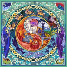 """The Five Wizards   17 Passages From """"Lord Of The Rings"""" Beautifully Recreated In Stained Glass"""