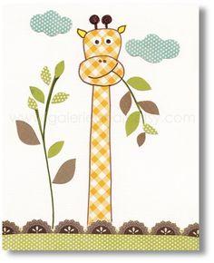 Giraffe nursery Art for children nursery print by GalerieAnais