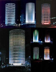 'Tower of Wind' by Toyo Ito from 1986 - a pioneer project in interactive city lights.