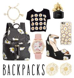 """""""Oopsie Daisy"""" by beautiful-escape ❤ liked on Polyvore featuring Kate Spade, Marc Jacobs, Alison Lou, Casetify, backpacks, contestentry and PVStyleInsiderContest"""