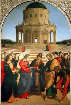 Raffaello - Spozalizio - Web Gallery of Art - Anexo:Obras de Rafael Sanzio - Wikipedia, la enciclopedia libre Die Renaissance, Italian Renaissance Art, Renaissance Kunst, Renaissance Artists, Renaissance Paintings, Raphael Paintings, Great Paintings, Italian Painters, Italian Artist