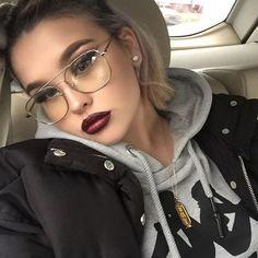 #Vintage#rectangle glasses#clear glasses#Sunglasses Women Clear lens glasses Frame Brand Designer Oversize Metal Frame Spectacles