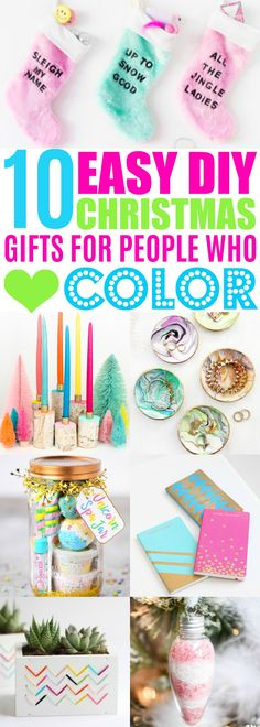 These DIY Christmas gifts are so CUTE! So happy I found these EASY DIY Christmas gift ideas. Love these holiday gift ideas for women and for teens! Definitely pinning!