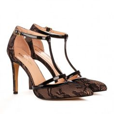 Sole Society Shoes - T-strap heels - Nicola