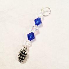 Sapphire Crystal Suncatcher Blue Crystal Window Ornament Sapphire Ships Anchor Crystal Ornament