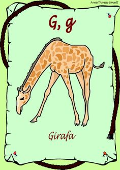 02. Alfabetul animalelor Blog, Movie Posters, Art, Giraffe Illustration, Art Background, Film Poster, Popcorn Posters, Kunst, Performing Arts