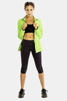 Alanic Clothing: The Leading Global Clothing Manufacturer: Add Funk to Wardrobe with the Vibrant Green Jacket from the Celebrated E-store of Alanic Cheap Boutique Clothing, Clothing Company, Custom Clothing, Women's Clothing, 70s Fashion Pictures, Leotard Fashion, Womens Workout Outfits, Trendy Clothes For Women, Athletic Outfits