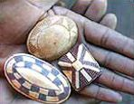 Ivory 'ekipas' from the Ovambo of Angola/Nambia.