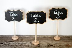 20 Wedding Chalkboard Table Number Stands Signs 4 x 6 LISA Buffet Food Sign Reception Decoration Save the Date Gift Guest Book diy idea