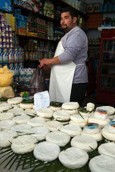 Cheese seller, street market, Medina, Tetouan, UNESCO World Heritage Sites, Morocco