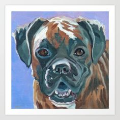 Boone the Boxer now available at my Society6 store Barking Dog Creations Studio!