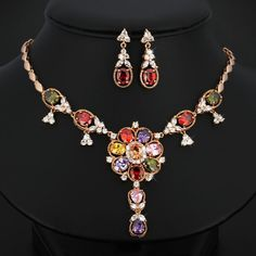 Find More Jewelry Sets Information About Por Good Quality Fashion Party Wedding Accessories Luxurious Grandeur Multicolor
