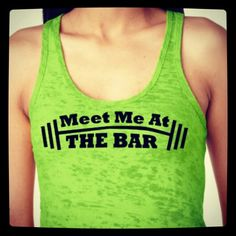 Meet me at the bar. Funny workout racer back tank. Pick up line