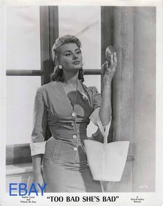 Sophia Loren super sexy VINTAGE Photo Too Bad She's Bad | eBay