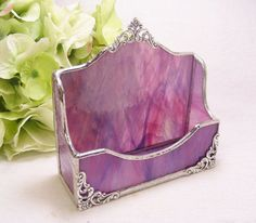 PurplePink Wispy Business Card Holder by MoreThanColors on Etsy, $42.00