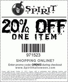 spirit halloween coupon spirit halloween promo code from the coupons app off a single item at spirit halloween or online via promo code walking february - Spirit Halloween 50 Off Coupon
