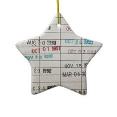 These DIY Christmas ornaments made from old library card catalogs are great bookish Christmas decor.