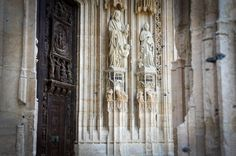 Around Rouen old town - church door, Rouen France Day Trip, Old Town, Cathedral, France, Cathedrals, Early French, Ely Cathedral